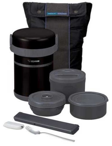 Zojirushi Durable Stainless Steel Classic Bento Vacuum Lunch Jar, Black.