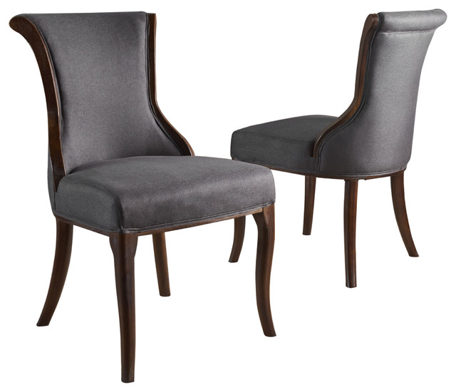 Lexia Plush Classic Fabric Dining Chair Transitional