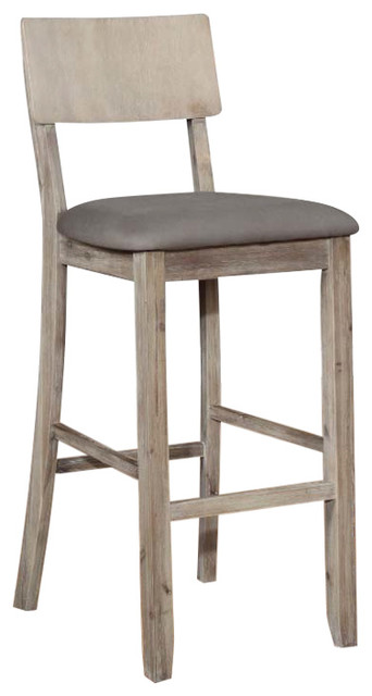 Jordan Gray Wash Bar Stool Transitional Bar Stools And