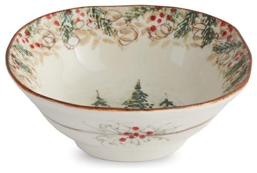 Arte Italica Christmas Natale Pasta Bowl - ChristmasTablescapeDecor.com