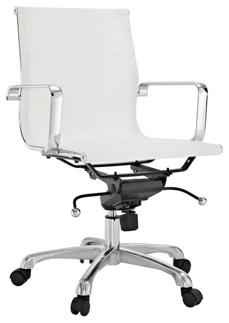 regis all-mesh low back conference office chair - modern - office