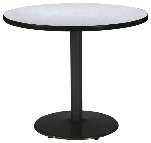 Kfi 42 Quot Round Pedestal Table With Grey Nebula Top Round