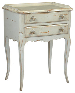 Clementine french country antique white 2 drawer nightstand end racine french country cherry wood gray nightstand watchthetrailerfo