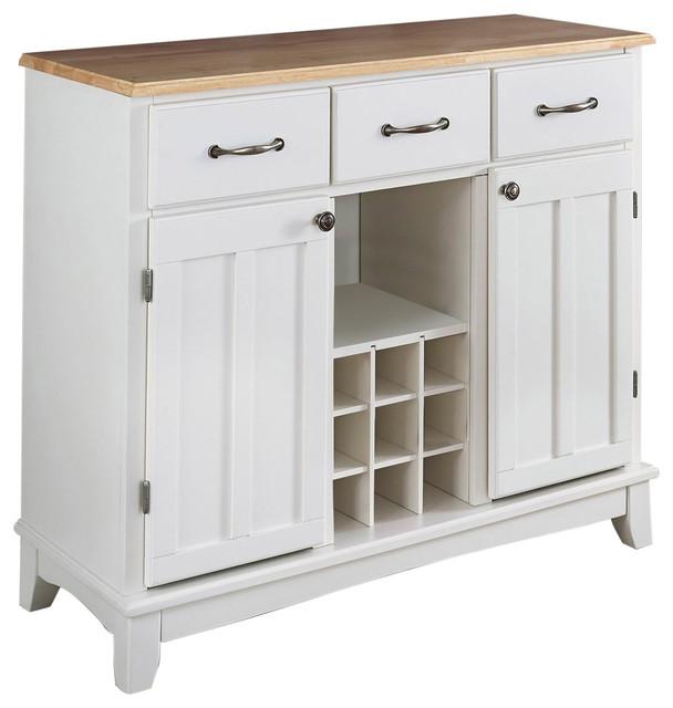 natural wood top kitchen island sideboard cabinet wine rack white transitional kitchen. Black Bedroom Furniture Sets. Home Design Ideas