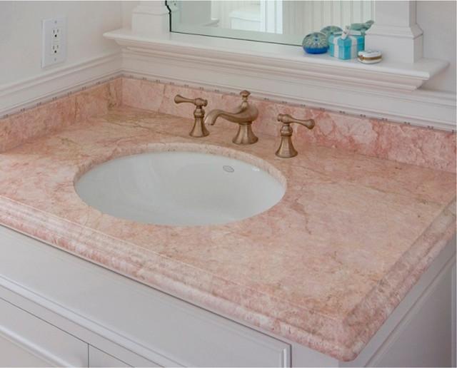 Rosa Tea Marble Vanity Portland Maine By Morningstar Stone Tile