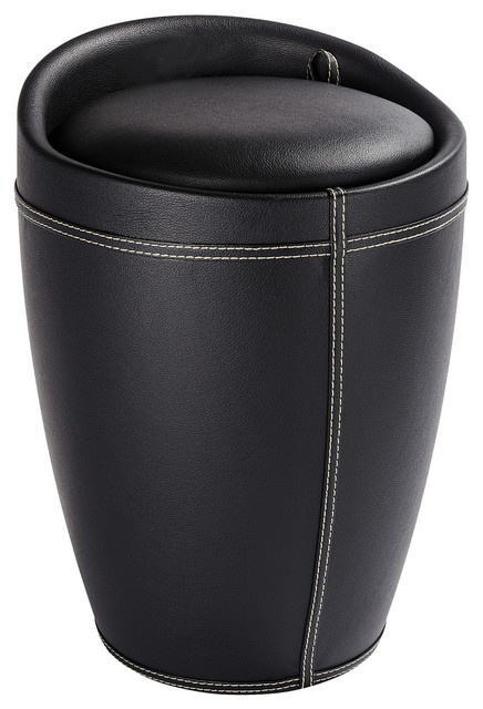 Sugar Laundry Basket Stool, Black.