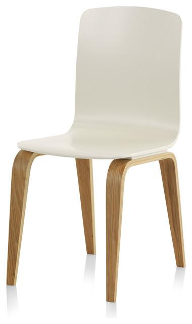 Elche White Wooden Oak Chair, Single Item