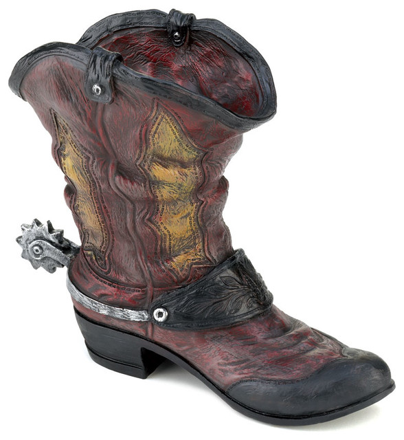 Verdugo Gift Company Spurred Cowboy Boot Planter - Outdoor Pots ...