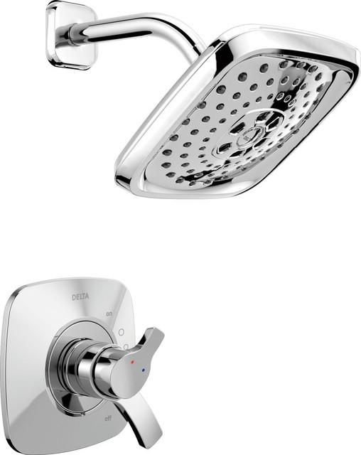 Tempassure 17t Series Tub Shower Trim T17t497 Rb: Delta Tesla TempAssure 17T Series H2Okinetic Shower Trim