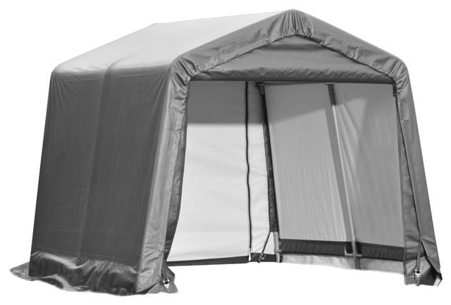 Shelter Logic Outdoor Sheltercoat Garage 10&x27;x8&x27;x10&x27;, Peak Standard, Gray