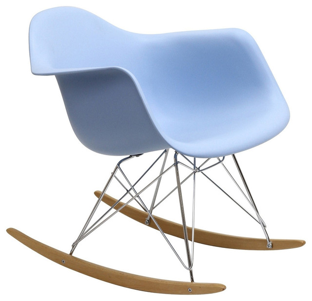 Plastic Molded Rocking Chair Blue contemporary-rocking-chairs