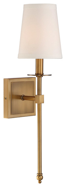 Monroe 1-Light Sconce, Warm Brass