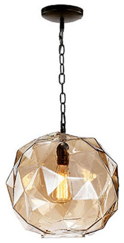 Exceptional Shop Houzz AB Home Faceted Glass Pendant Light Pendant Lighting Amazing Ideas
