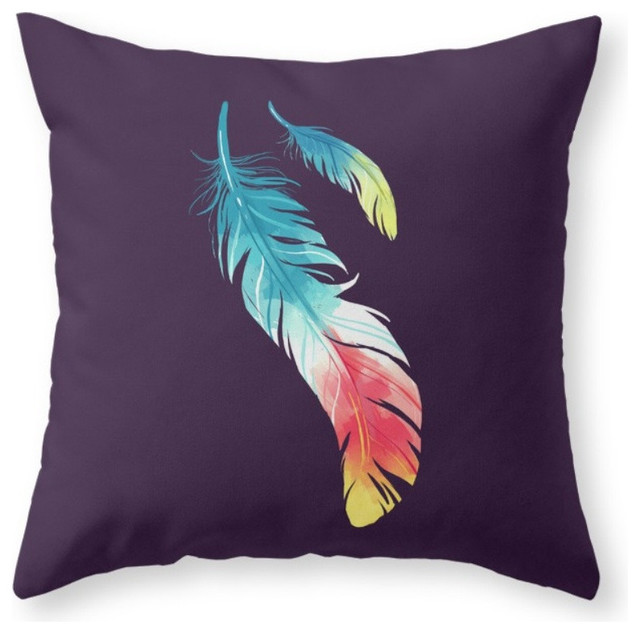 Decorative Pillows Feather : Society6 Feather, Throw Pillow - Contemporary - Decorative Pillows - by Society6