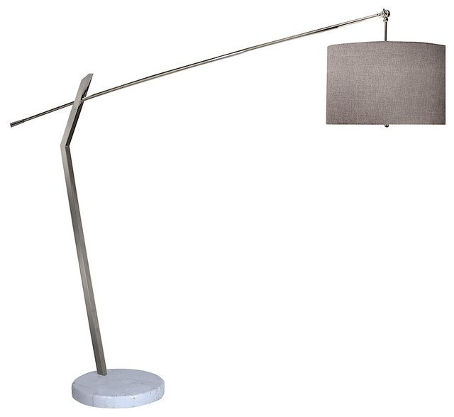 arc floor lamp glass shade modern lamps drum arch target