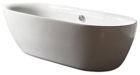"Davida Acrylic Modern Freestanding Soaking Bathtub 71""."