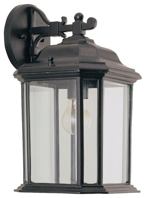 Kent Outdoor Wall Mount Light, Black Traditional Outdoor Wall Lights