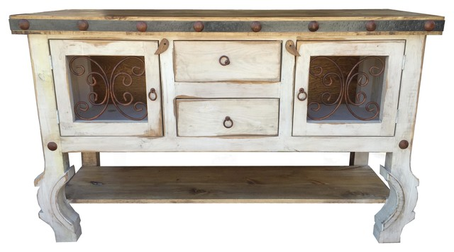 Lancaster 60 Rustic Sideboard Buffet Old White