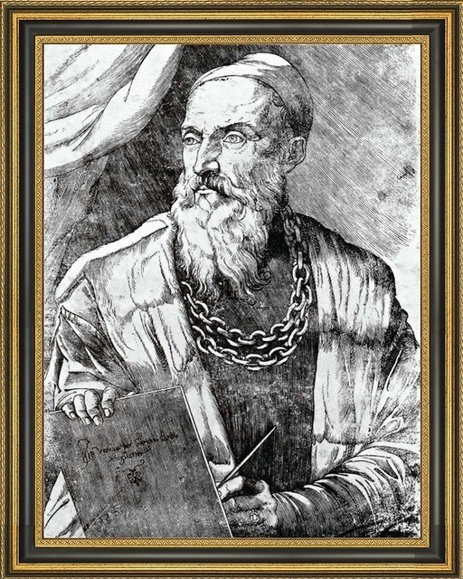giovanni britto self portrait by titian framed canvas print 21x28 traditional