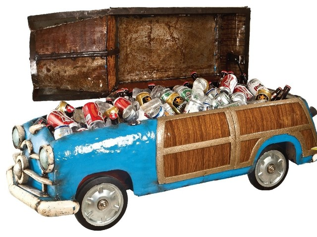Think Outside The Woody Woodie Car Metal Cooler Eclectic