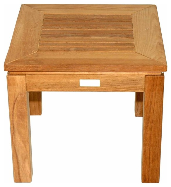 Teak Square End Table By Regal Teak Contemporary Outdoor - Teak outdoor end table