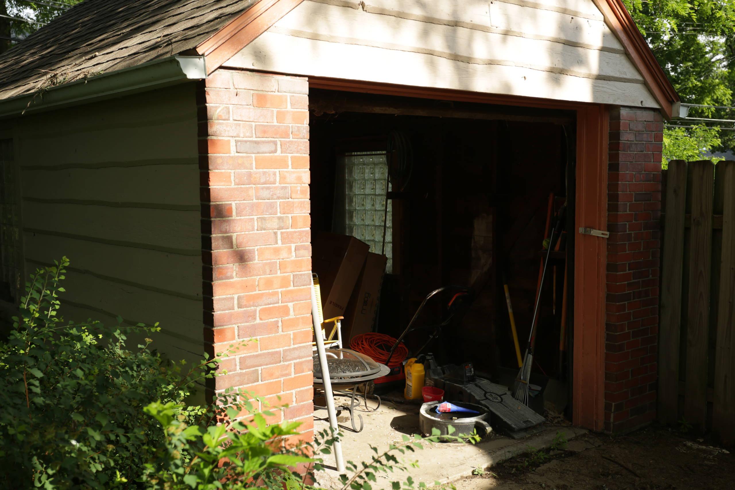 Vintage garage turned tiny home