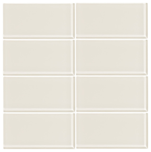 Cream Glass Subway Tile Sample modern-mosaic-tile