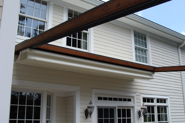Private Residence, Northern NJ   Retractable Pergola Awning Traditional