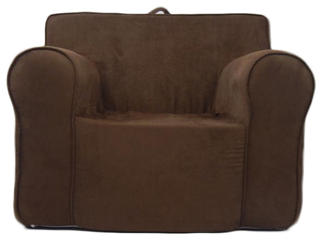 Fun Furnishing Everywhere Foam Collection Chair Chocolate Micro  Contemporary Kids Chairs