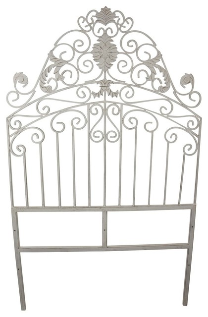 Flora Iron Headboard, Twin.