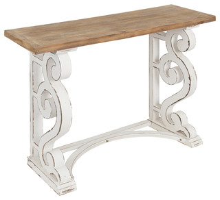 Kate and Laurel Wyldwood Country French Solid Wood Console Table