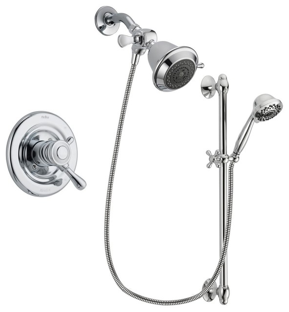 Exceptionnel Delta Leland Chrome Shower Faucet System W/ Shower Head And Hand Shower  DSP0588V