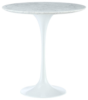 "Modway Lippa 20"" Marble Side Table EEI-280-WHI"