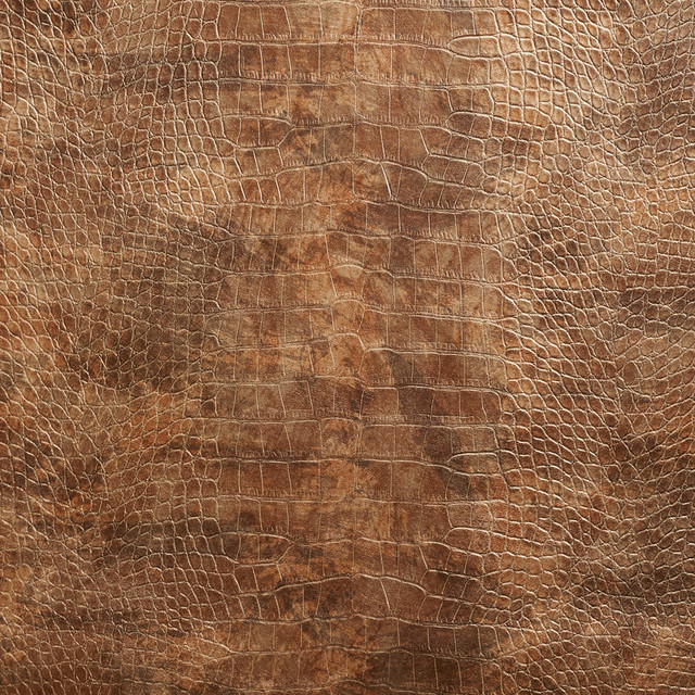 Bronze Metallic Alligator Faux Leather Vinyl By The Yard