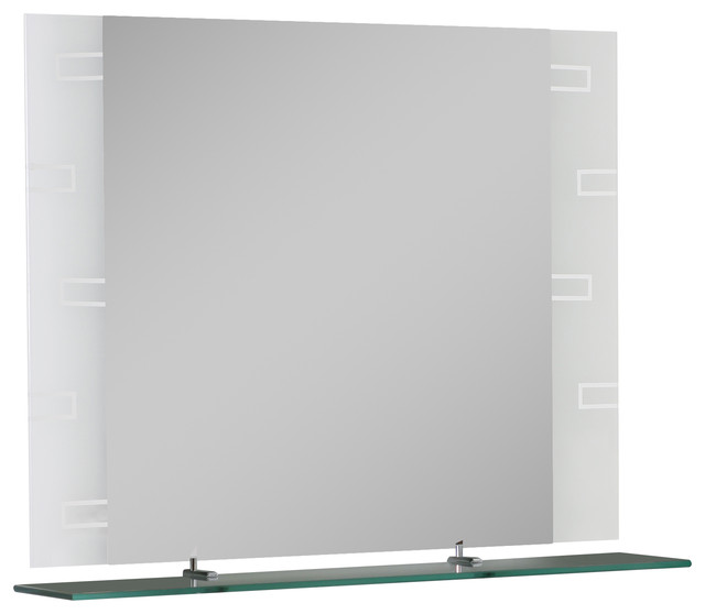 Frameless Rectangle Wall Mirror.