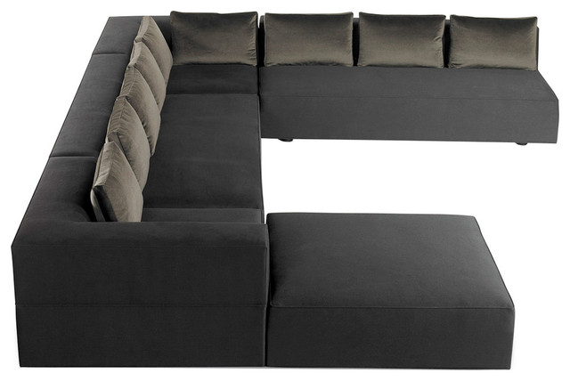 Cosmo Modern U Shaped Sectional Contemporary Sectional Sofas