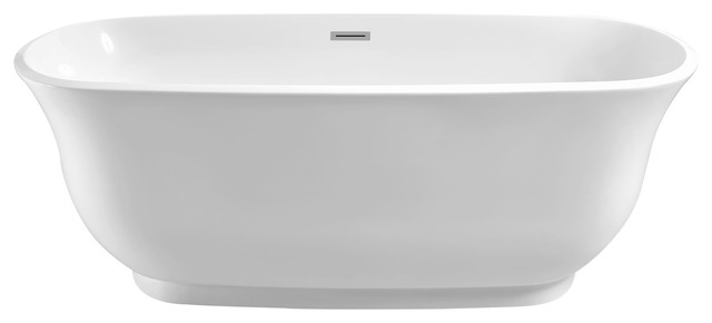 "Imperial Oval Soaking Bathtub, White, 59""x22""."