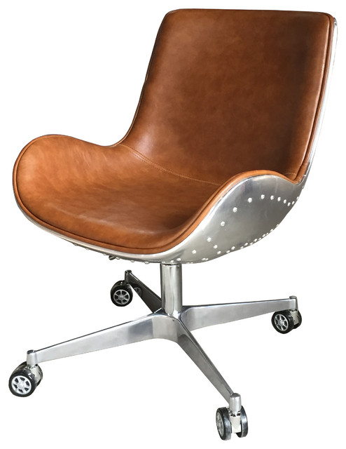 Abner Swivel Chair Aluminum Frame Industrial Office Chairs