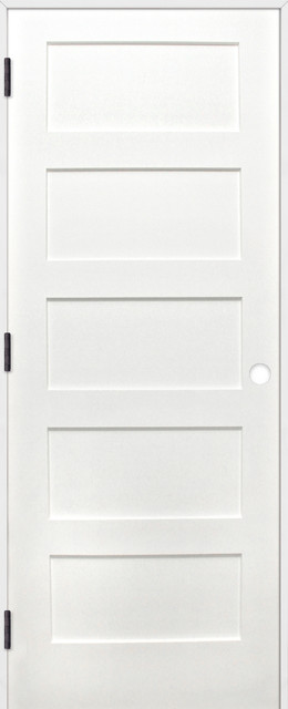 Interior Prime Pine 5 Panel Shaker Reversible Handing Pre Hung Door Kit 24x80