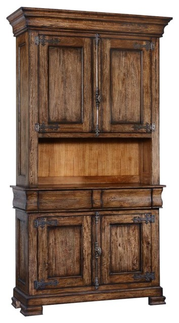 Side Cabinet Philippe Rustic Pecan Wood - Traditional ...