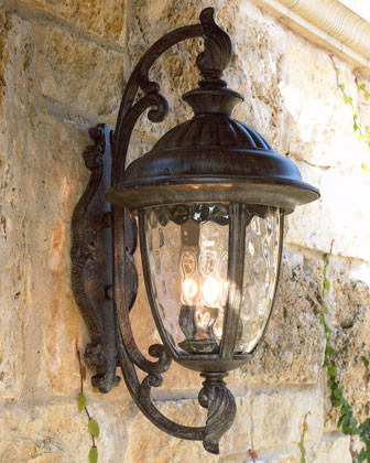 """""""Park Lane"""" Lantern - Traditional - Outdoor Wall Lights ... on Exterior Wall Sconce Light Fixtures id=39478"""