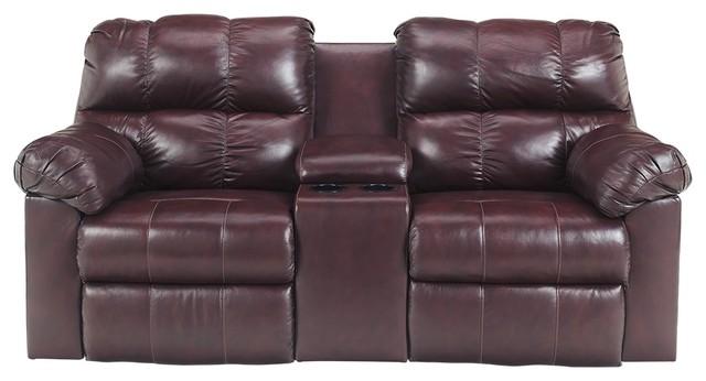 Strange Ashley Furniture Double Recliner Loveseat With Console Burgundy Inzonedesignstudio Interior Chair Design Inzonedesignstudiocom