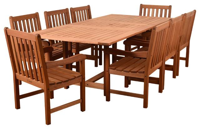 Amazonia Bristol 9-Piece Rectangular Patio Dining Set.