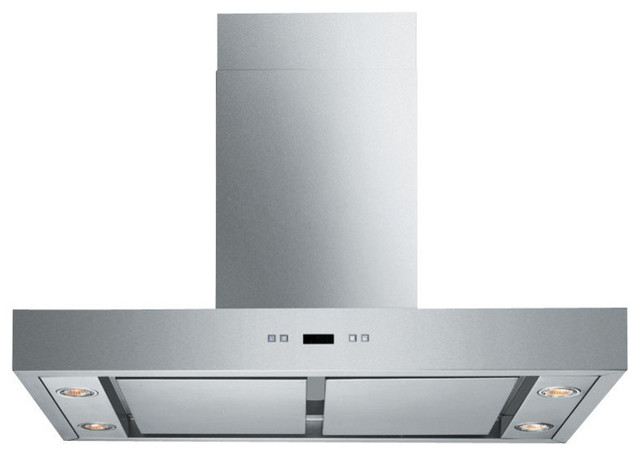 Spagna Vetro Wall-Mounted Stainless St Range Hood, 30.