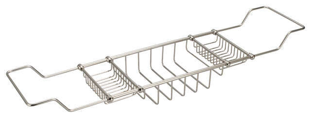 Expandable Bath Caddy For The Elegant Tub, Polished Nickel PVD Finish