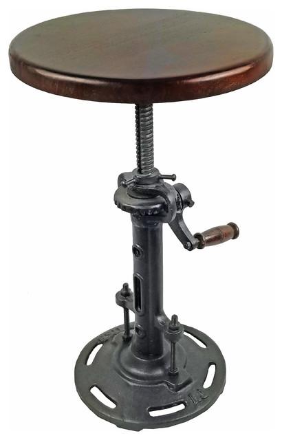 Beau Adjustable Industrial Style Mango Wood Stool