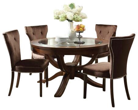Delahey 5 Piece Dining Set ... - Dakota 5 Piece Antique Bronze Dining Set W 48 Quot Round Table And