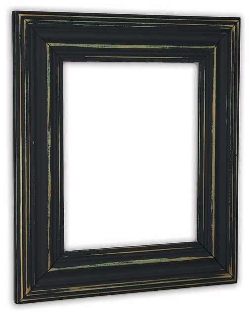 Rustic Black Wood Frame To Wide Distressed Black Picture Frame Solid Wood Wood Rustic