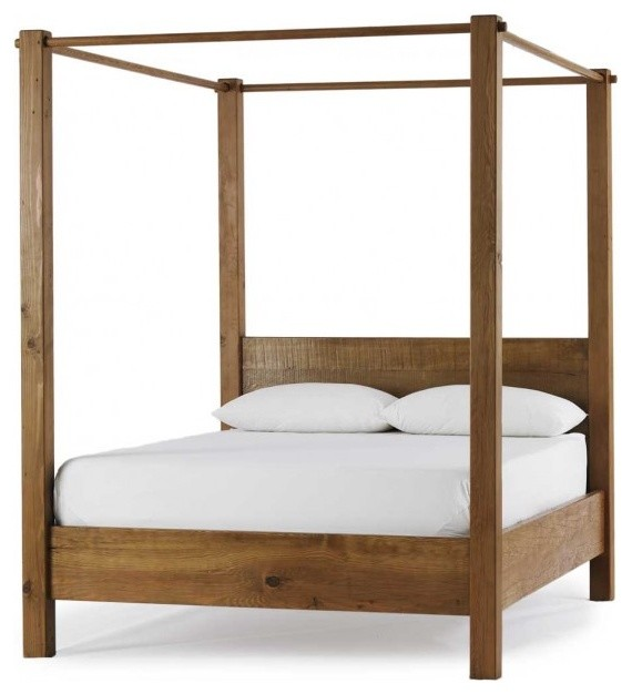 Vintage Fir Canopy Bed Traditional Canopy Beds By