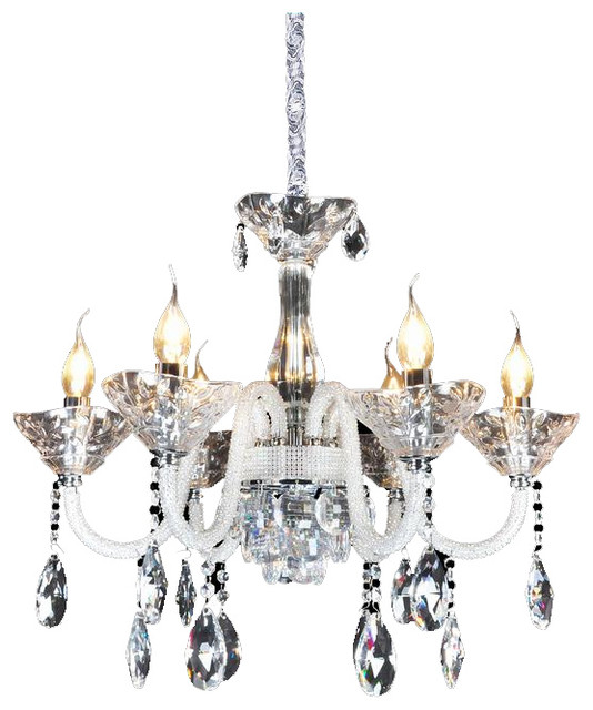Royal crystal lighting crystal chandelier 6 lights traditional chandeliers by royal - Traditional crystal chandeliers ...